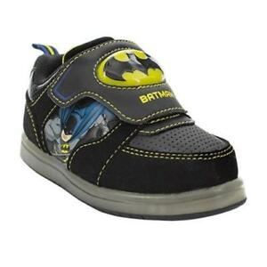 6c3c1aa459fd DC Comics Batman Toddler Boys  Athletic Light-Up Black Tennis Shoes ...