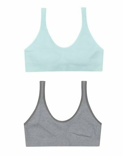 Hanes Pullover Bra 2 Pack Girls Cozy Seamless Wirefree Fuller coverage Tag Free