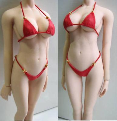 1//6 Bikini BH Slip Set für 12 /'/' weibliche Actionfigur Body schwarz