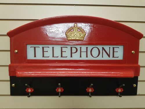 WITH COAT HANGER RED TELEPHONE BOX CAST OF THE TOP FRONT OF K6 KIOSK BOOTH