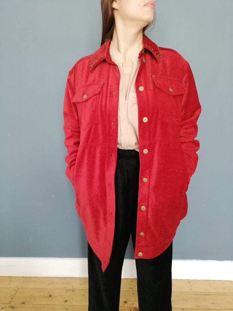 Mcq Alexander Mcqueen Oversize Veste Rouge (taille 38) - Rrp 490