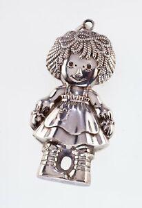 1975-Bobbs-Merrill-Co-Sterling-Silver-Raggedy-Ann-Christmas-Ornament