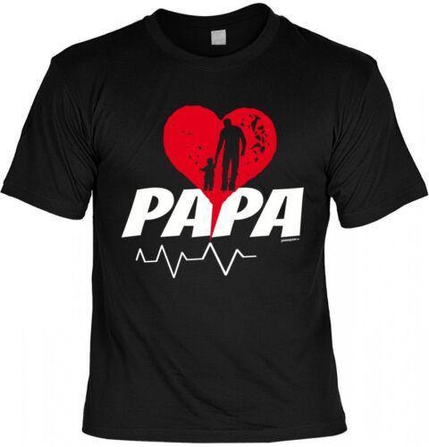T-shirt père-papa avec coeur-Cadeau Humour Fête des pères Anniversaire Noir