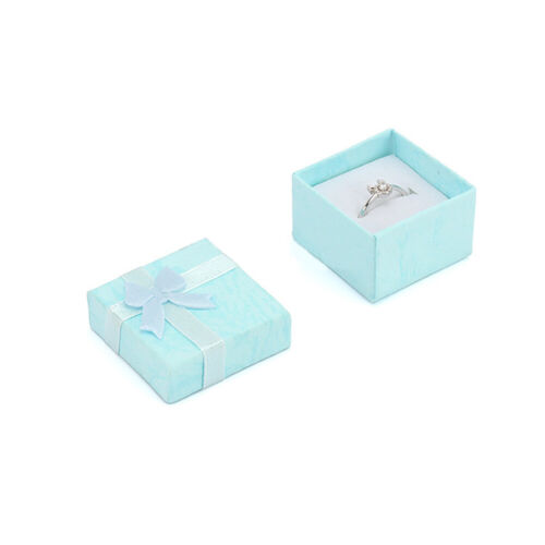 24x Gift Storage Box Cube Ring Earring Charm Jewelry Case Necklace Wedding Prop
