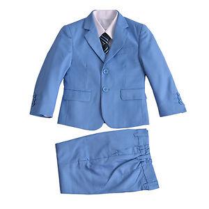 Bleu Clair 5 Pièces Garçon pour Costume de Mariage Garçons D Honneur ... 281f29675a9