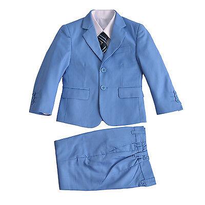 Miele Blu Chiaro 5 Pezzo Boy Tute Ragazzi Matrimonio Suit Page Boy Party Prom 2-12 Anni-mostra Il Titolo Originale Ricco E Magnifico