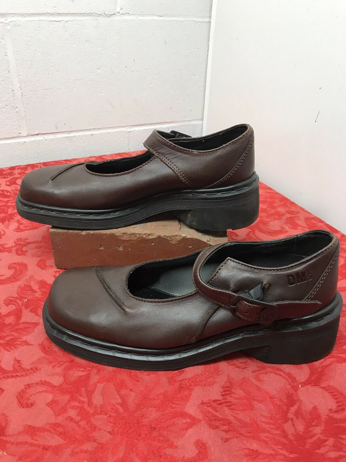 Original Doc Dr. Martens Brown Mary Jane shoes Women's US 9 UK 7 Leather Buckle