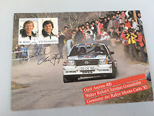 Opel Ascona B 400 Rallye Monte Carlo 1982 original Postkarte,Röhrl/Geistdörfer
