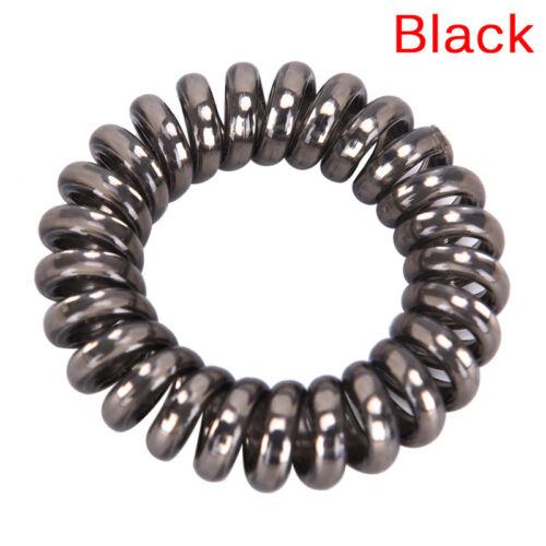 1 5X Gummi Telefon Draht Haargummis Spirale Slinky Haar Kopf Elastische BänWRD