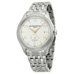 Baume-And-Mercier-Clifton-Automatic-Silver-Dial-Mens-Watch-MOA10141