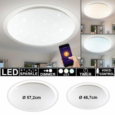 LED Smart Home Decken Lampe Tageslicht Sternen Effekt Alexa Google App DIMMER