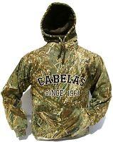 Cabela's Heavyweight Waterfowler Hoodie 420 Gm Mossy Oak Realtree Max4 Snow