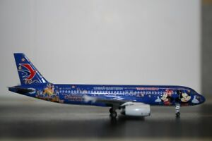 Panda-Model-Skywings-1-400-China-Eastern-Airbus-A320-200-B-6635-034-Disneyland-034