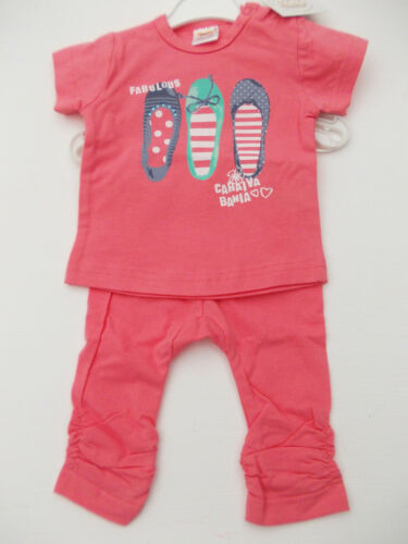 BNWT Baby Mädchen Baumwolle 2 Teile T-Shirt und Leggings Kleidung Nb Sich 18