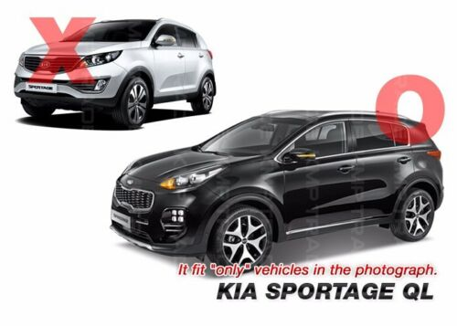 3D K Logo Grille Rear Trunk Carbon Black Emblem Badge For KIA 17-19 Sportage QL