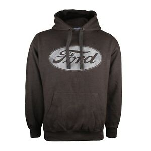 Details About Ford Logo Mens Pullover Hoodie Charcoal Size S M L Xl Xxl