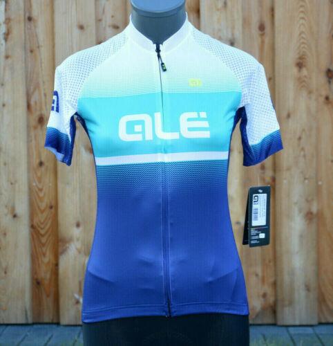 Alé Ale Solid Blend Jersey kurzarm Fahrrad Trikot Damen weiß-türkis-blau /%/%