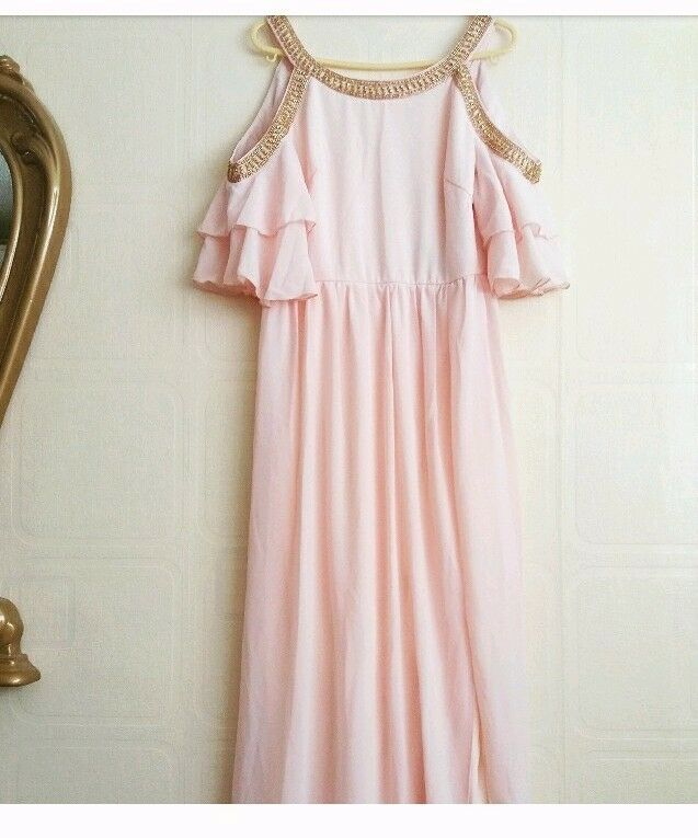 (New with tags) Nude Pink Off Shoulder Prom Dress- TAKING OFFERS!