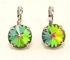 Cup Chain VITRAL MEDIUM Rivoli Drop Earrings made W/ Swarovski Elements