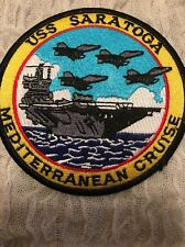 USS SARATOGA MEDITERRANEAN CRUISE Full Embroidery Patch