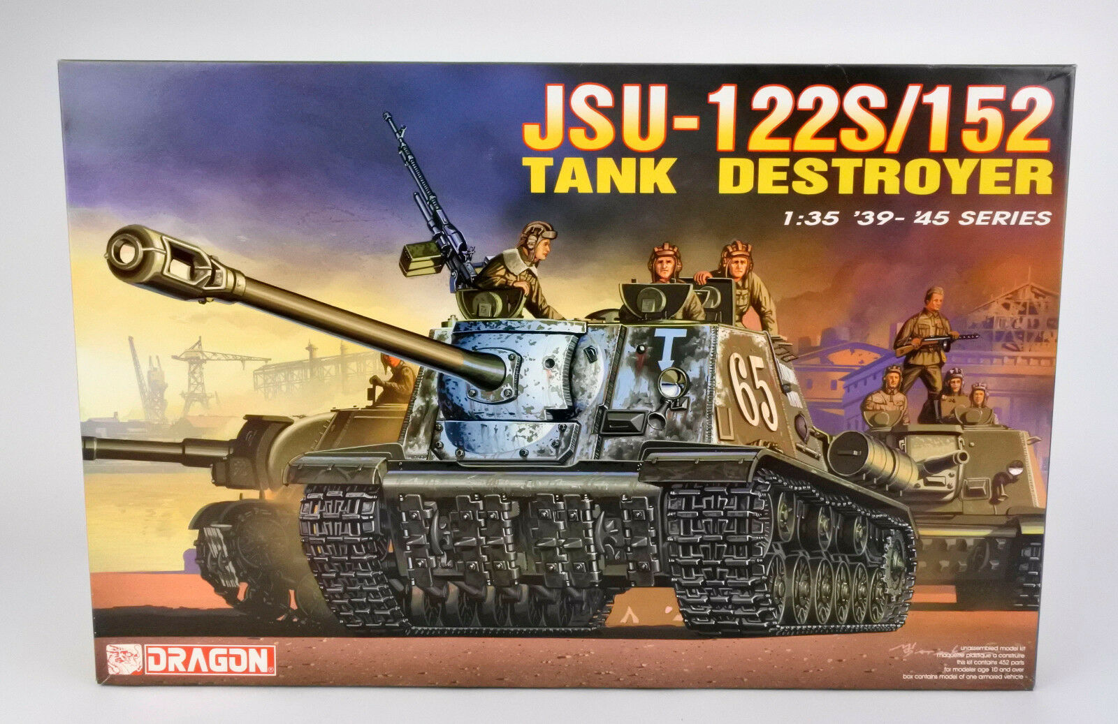 DRAGON 1 35 6047 RUSSIAN JSU-122S 152 TANK DESTROYER MODEL KIT