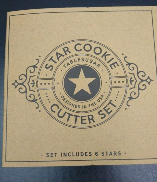 6 Star Shaped Cookie Cutters Makes Stacked Star Cookie Christmas Tree