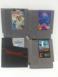 Lot-Of-4-Nintendo-NES-Games-Renegade-Tetris-Top-Gun-And-Duck-Hunt