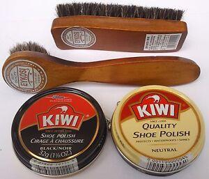 online retailer online for sale superior quality KIWI BLACK NEUTRAL SHOE POLISH CREAM, SHINE BRUSH & DAUBER KIT ...