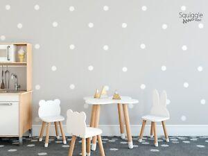 Polka Dot Shaped Vinyl Wall Sticker Bedroom Nursery Decal Black