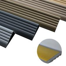 150cm bande de bordure descalier-protection Argent/é Nez de marche profil d/'angle PVC autoadh/ésif 41x25mm antid/érapant