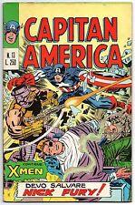 CAPITAN AMERICA corno N.13 DEVO SALVARE NICK FURY ! originale 1973 x-men shield