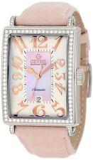 Gevril Women's 6208RL Glamour Automatic ETA 2892 DIAMOND Pink Leather Watch