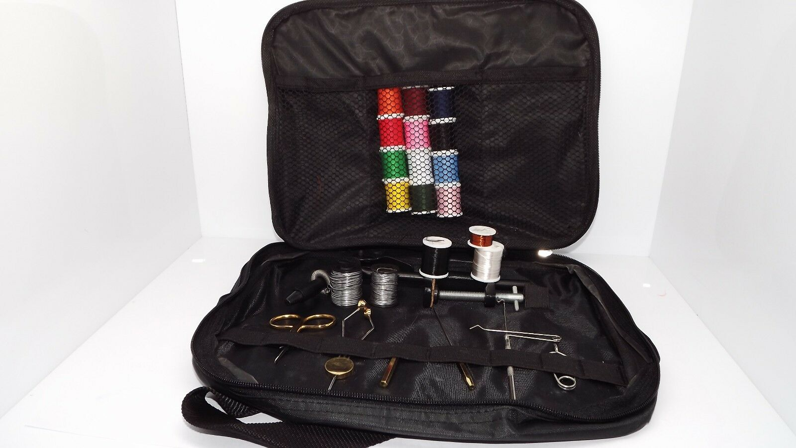 FLY TYING TOOL KITS for beginner ,FLY TYING VICE,TOOLS,MATERIALS