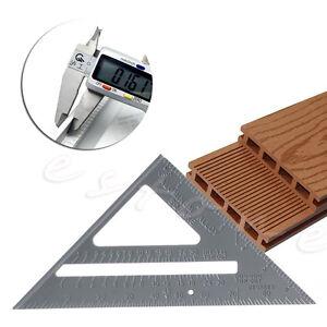 """Aluminum Speed Square Protractor Miter Framing Measuring Tool Carpenter Ruler 7"""""""