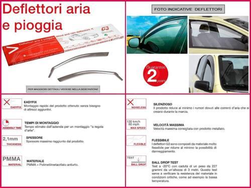 DEFLETTORI ANTIVENTO PIOGGIA ANTITURBO G3 2PZ  MICRA 03/>10 5P 2003/>2010