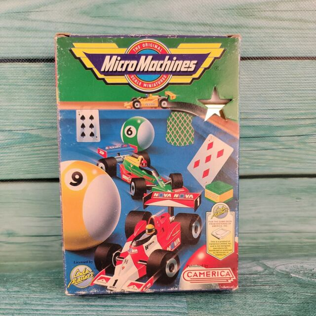 🔥Nintendo NES Micro Machines Gold Game W/Original Box and Case🔥