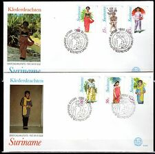 Suriname - 1980 Folklore dresses - Mi. 888-93 clean FDC's