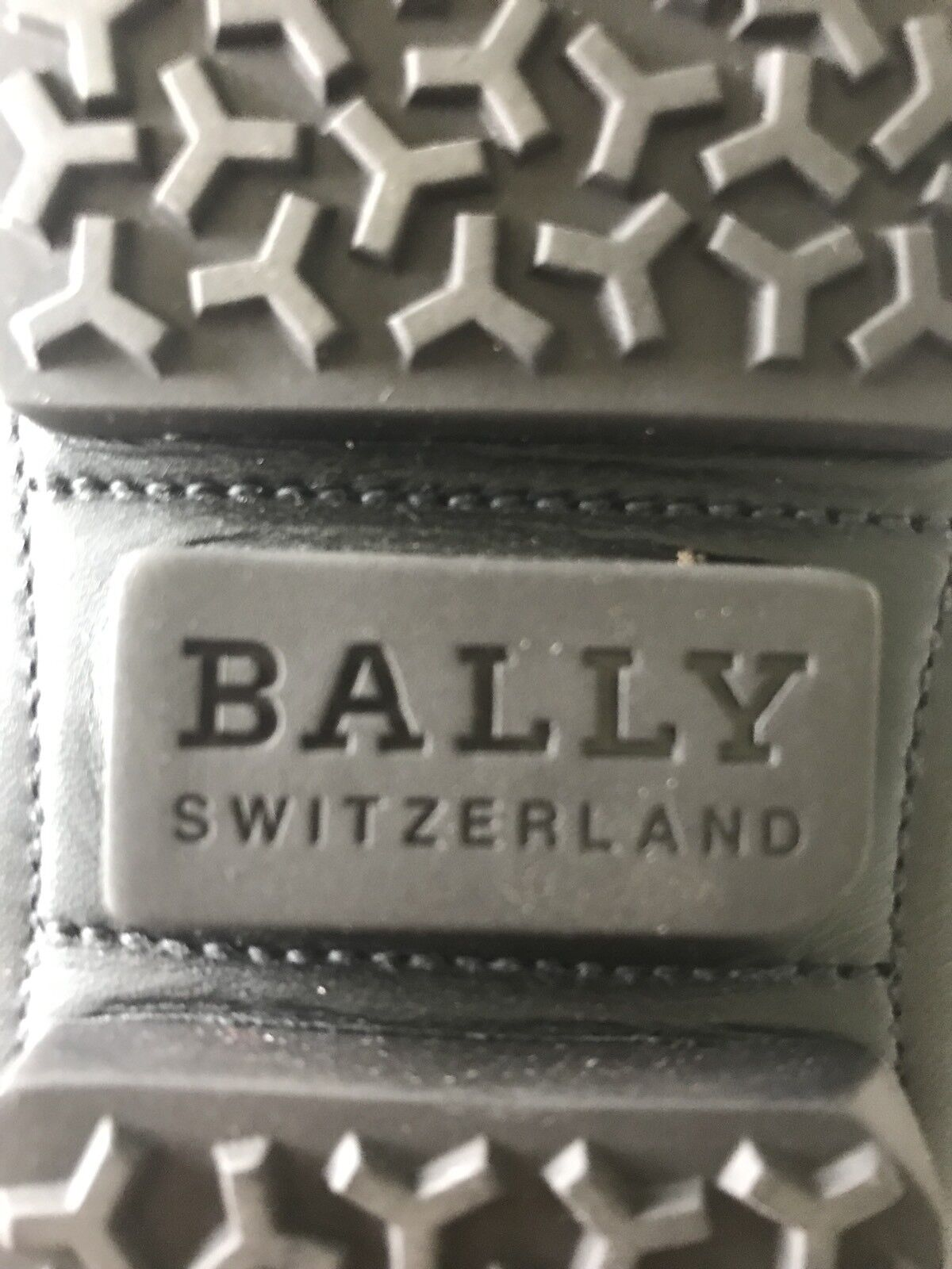 600  Bally Bally Bally Pryce nero Perforated Leather Driver Dimensione US 11.5 Made in  0f8f26