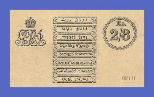 2 Rupees 8 Annas 1917s Reproductions!!! INDIA