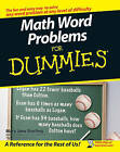 Math Word Problems For Dummies by Mary Jane Sterling (Paperback, 2007)