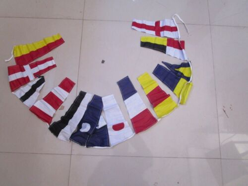 Marine Signalling Flags – 14 flags Bunting Beach Party 6 Feet 100/% COTTON