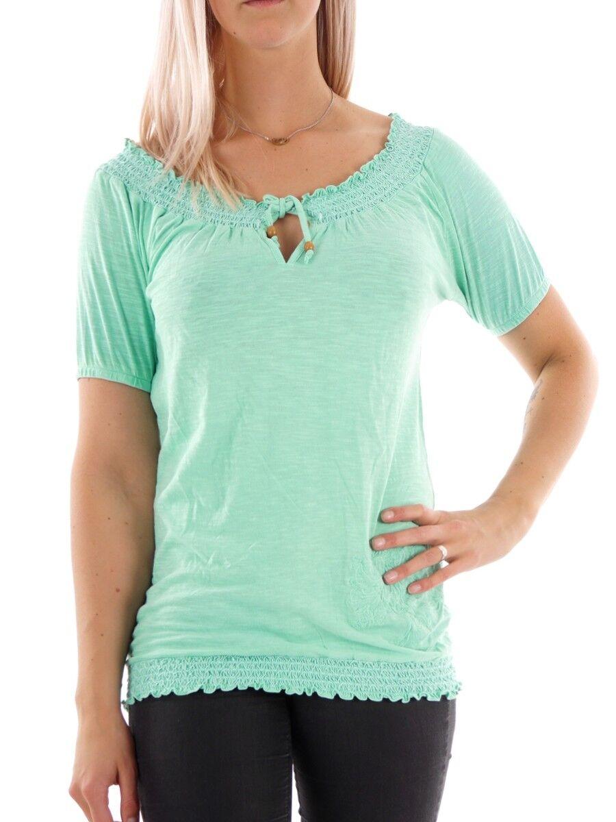 Brunotti T-Shirt Burlesco Oberteil bluesenshirt grün Gummibund dehnbar