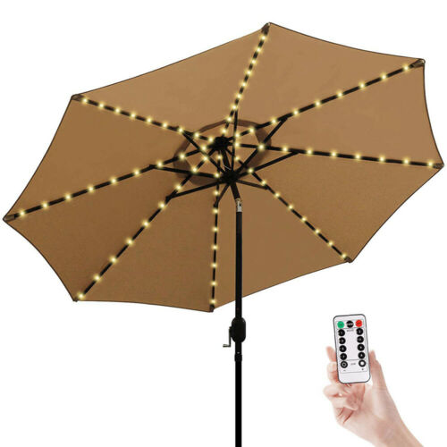 104 LED Solar Light Outdoor Garden Patio Table Umbrella Parasol Decor Fairy Lamp