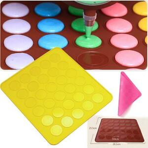One-Sided-Silicone-Macaron-Macaroon-Mat-Oven-Baking-Sheet-Cookies-Cake-New-8D