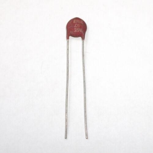 Vintage Erie 0.01uF 25 V condensateur céramique
