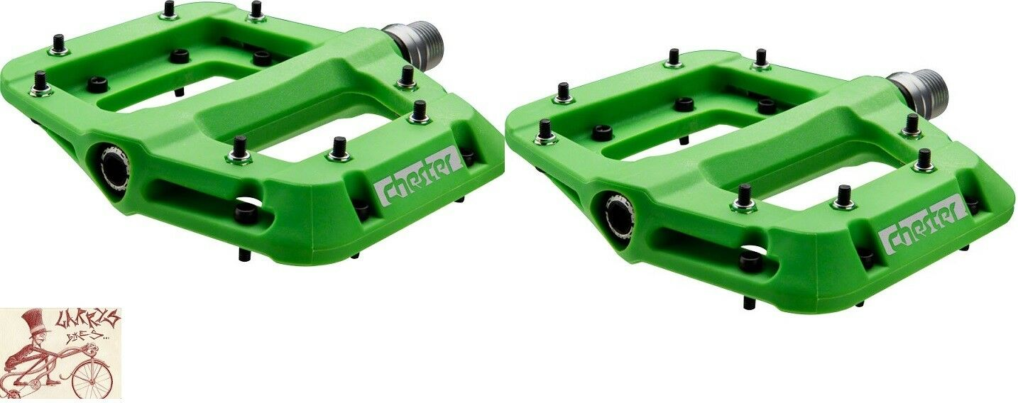 RACEFACE CHESTER COMPOSITE PLATFORM GREEN BICYCLE PEDALS
