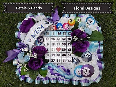Bingo Board Funeral Wreath Grave Memorial Tribute Artificial
