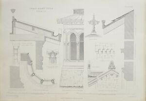 1868-Architektonisch-Aufdruck-Craig-Ailey-Villa-Details-Teil-Oriel-Fenster-Tower