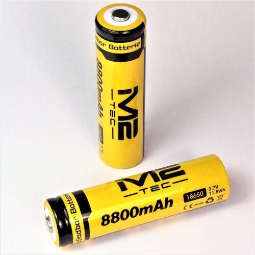 8800 mAh 11,8 Wh  Lithium Ionen Akku 3,7 V Typ 18650 Li 8 x M2 TEC ion