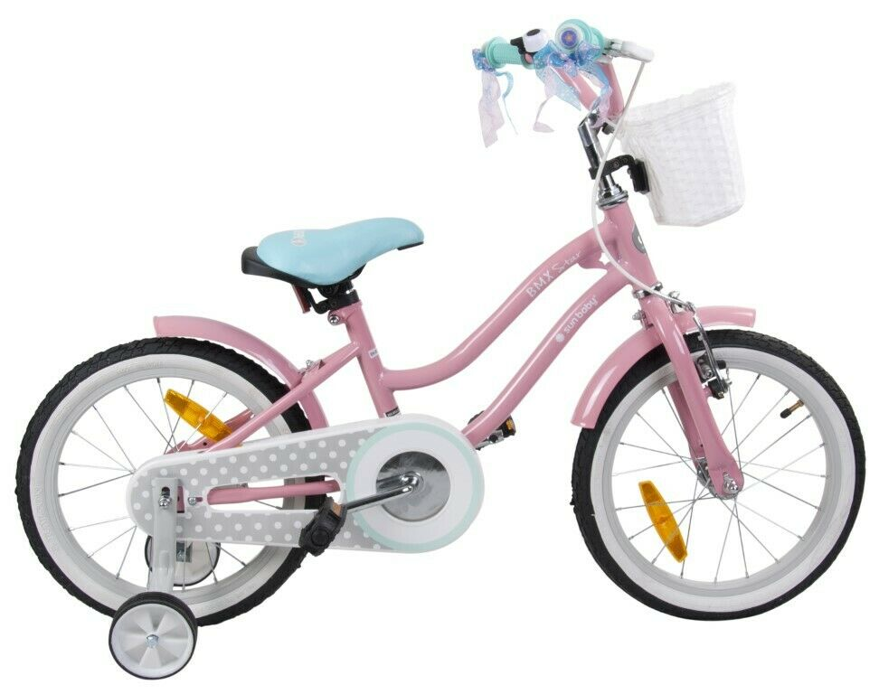 BMX bike 16   KIDS Pink with turquoise seat HIGH QUALITY